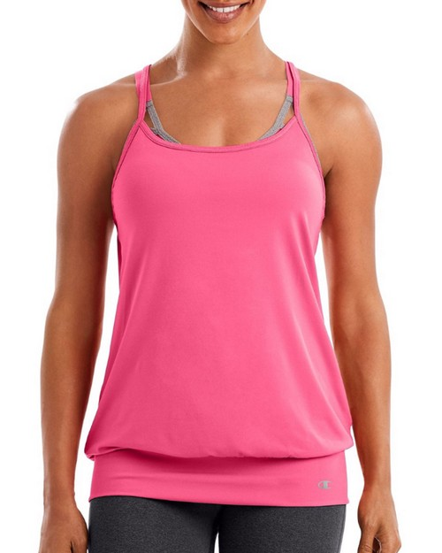 Champion W50144 Womens Mesh Strappy Tank