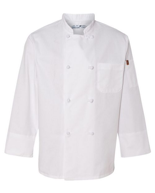 Chef Designs 0414 Eight Knot Button Chef Coat with Thermometer Pocket