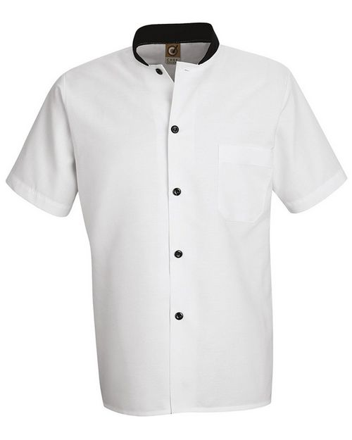 Chef Designs SP04 Black Trim Cook Shirt