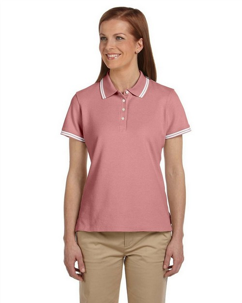 Chestnut Hill CH113W Ladies' Tipped Performance Plus Pique Polo