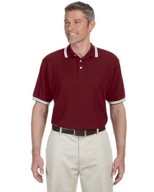 Chestnut Hill CH113 Men's Tipped Performance Plus Pique Polo