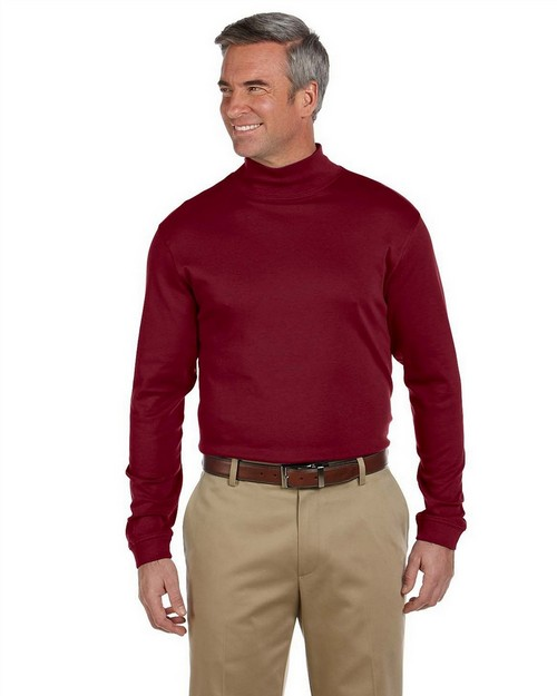 Chestnut Hill CH230 Pima Cotton Long-Sleeve Mock Neck