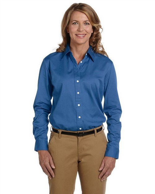 Chestnut Hill CH500W Ladies' 32 Singles Long Sleeve Twill Shirt