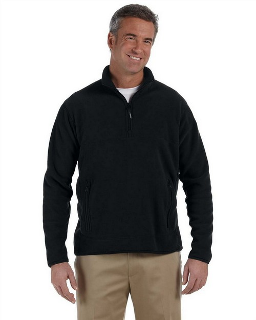 Chestnut Hill CH970 Polartec Colorblock Quarter Zip Fleece Jacket