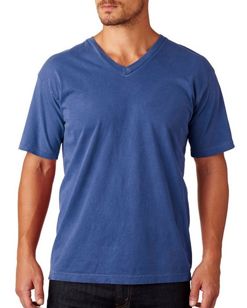 Chouinard 4099 Adult Garment-Dyed Combed Ring-Spun Cotton V-Neck Tee