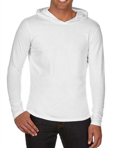 Chouinard 4900 Comfort Colors Adult Long-Sleeve Hooded Tee