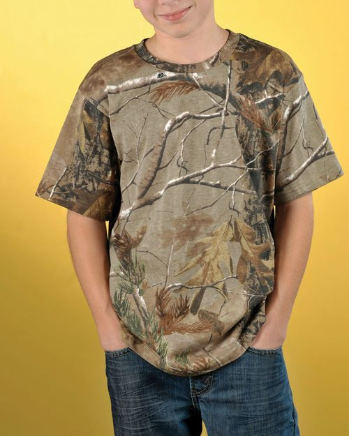 Code Five 2280 Youth Officially Licensed REALTREE Camouflage Short Sleeve Tee