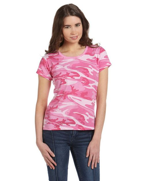 Code Five 3665 Ladies 4 oz. Fine Jersey Camouflage T-Shirt