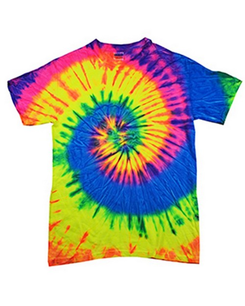 Colortone T1001Y Multi Color Tie Dye Youth Tee