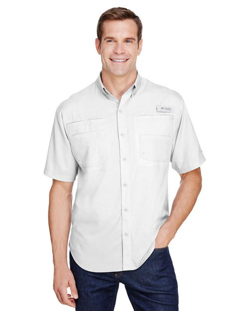 Logo Embroidered Columbia 7266 Mens Tamiami II Short-Sleeve Shirt