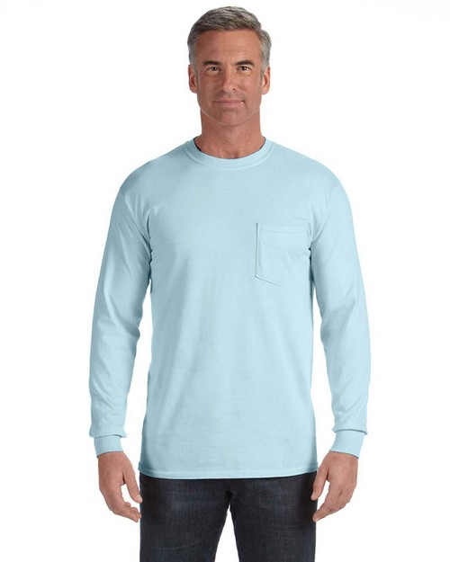 Comfort Colors 4410 Adult Long Sleeve Pocket Tee