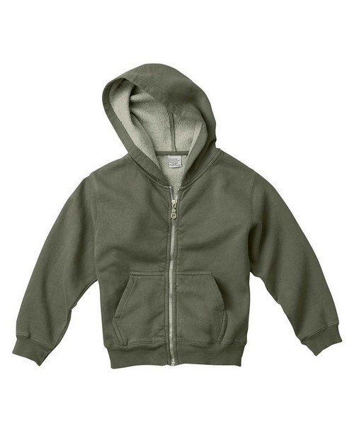 Comfort Colors C7755 Youth Garment Dyed Full Zip Hooded Sweatshirt