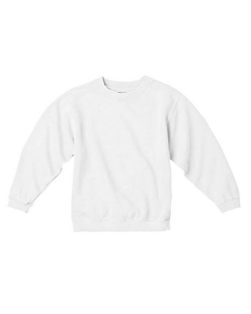Size Chart For Comfort Colors C9755 Youth Garment Dyed Crew