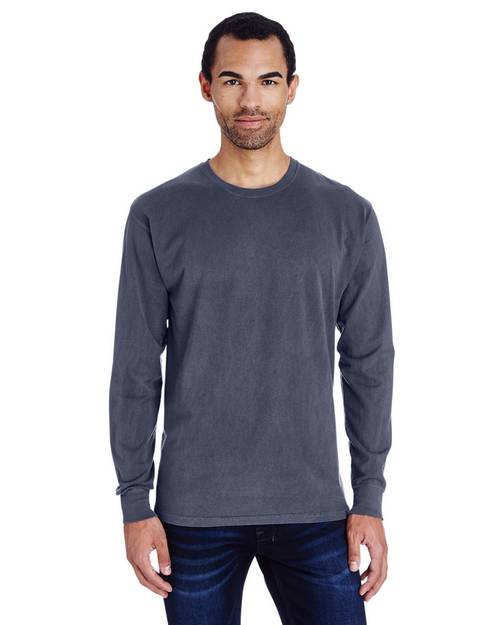 Comfort Wash By Hanes GDH200 Unisex Garment-Dyed Long-Sleeve T-Shirt