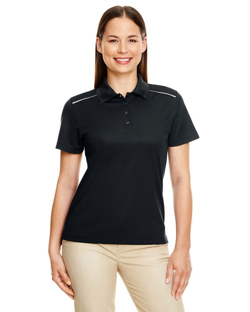 Core365 78181R Ladies Radiant Performance Reflective Piping Pique Polo Shirt