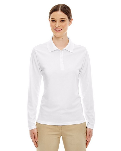 Core365 78192 Pinnacle Ladies Performance Long Sleeve Pique Polo