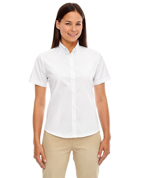Core365 78194 Optimum Ladies Short Sleeve Twill Shirt