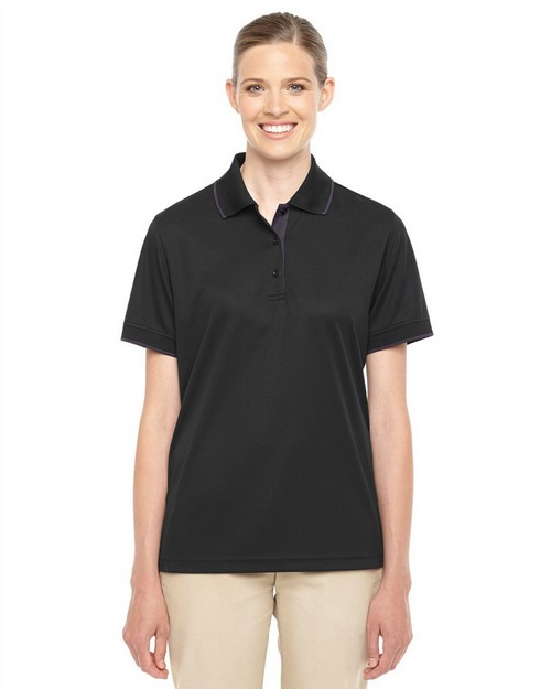 Core365 78222 Ladies Motive Performance Pique Polo with Tipped Collar