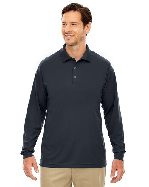 Core365 88192T Pinnacle Mens Performance Long Sleeve Pique Polo