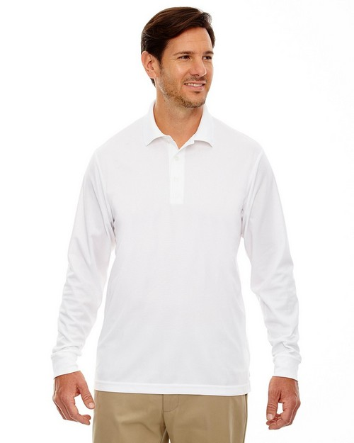 Core365 88192 Pinnacle Mens Performance Long Sleeve Pique Polo