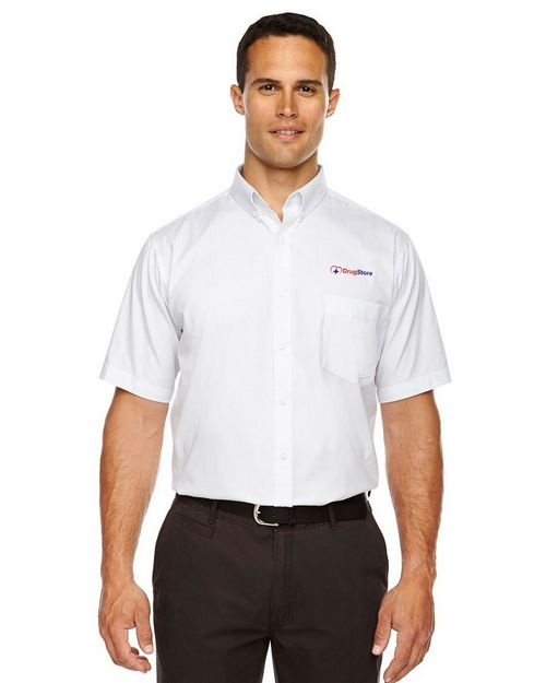 Core365 88194 Optimum Mens Short Sleeve Twill Shirt