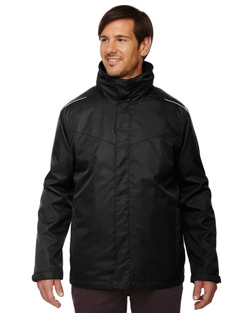 Core365 88205T Region Mens Tall 3-in-1 Jacket With Fleece Liner