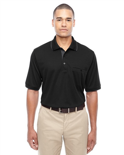 Core365 88222 Mens Motive Performance Pique Polo with Tipped Collar