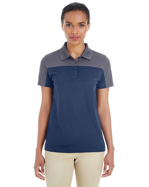 Core365 CE101W Ladies Balance Colorblock Performance Piqué Polo