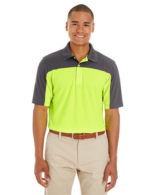 Core365 CE101 Mens Balance Colorblock Performance Piqué Polo