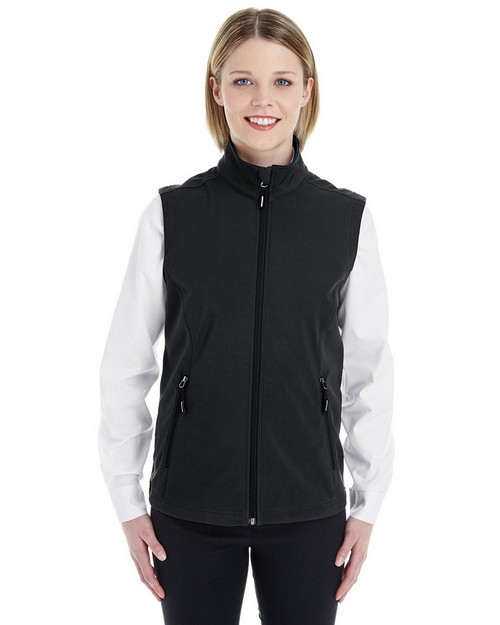 Core365 CE701W Ladies Cruise Two-Layer Fleece Bonded Soft Shell Vest