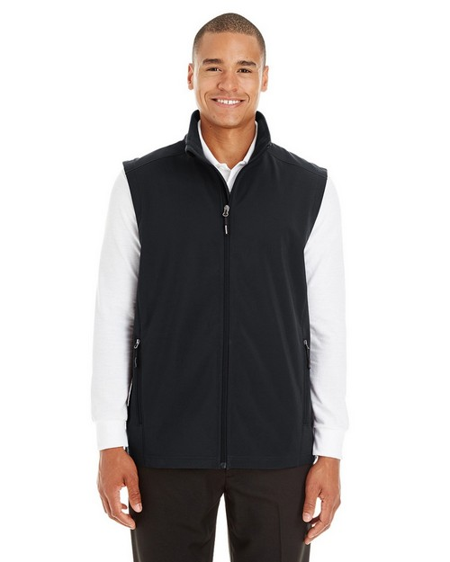 Core365 CE701 Mens Cruise Two-Layer Fleece Bonded Soft Shell Vest