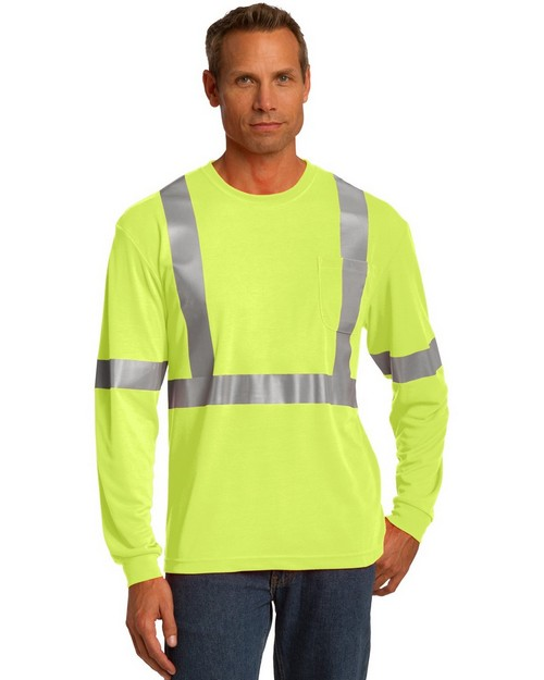 Cornerstone CS401LS ANSI 107 Class 2 Long Sleeve Safety T-Shirt