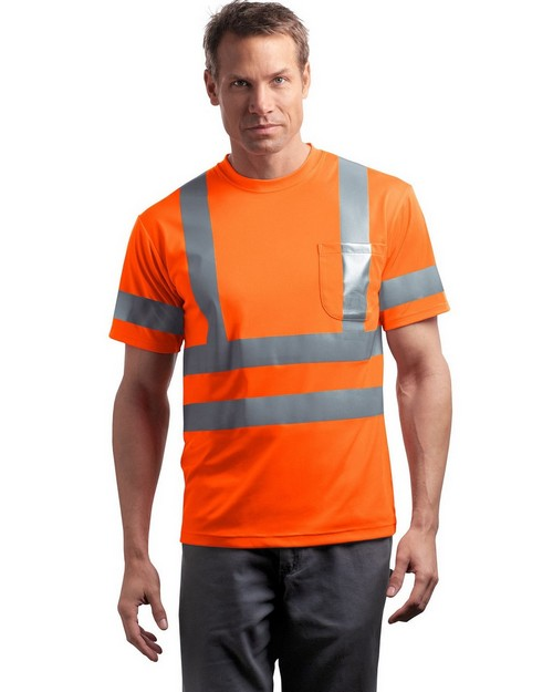 Cornerstone CS408 ANSI Class 3 Short-Sleeve Snag-Resistant T-Shirt