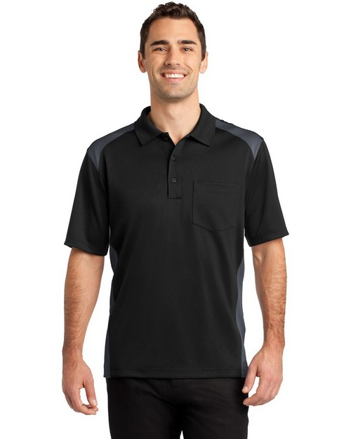 Cornerstone CS416 Select Snag Proof Two Way Colorblock Pocket Polo