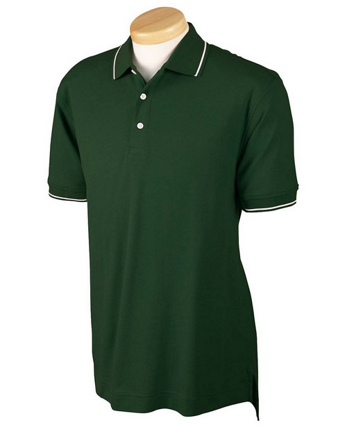 Devon & Jones D113 Mens Pima Pique Tipped Polo