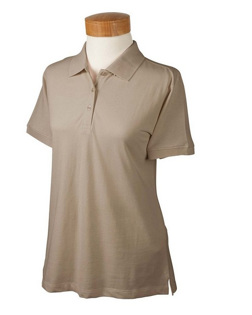 Devon & Jones D130WGR Ladies Organic Pique Polo
