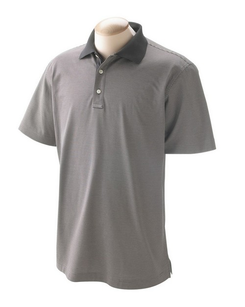Devon & Jones D350 Mens Northport Jersey Striped Polo