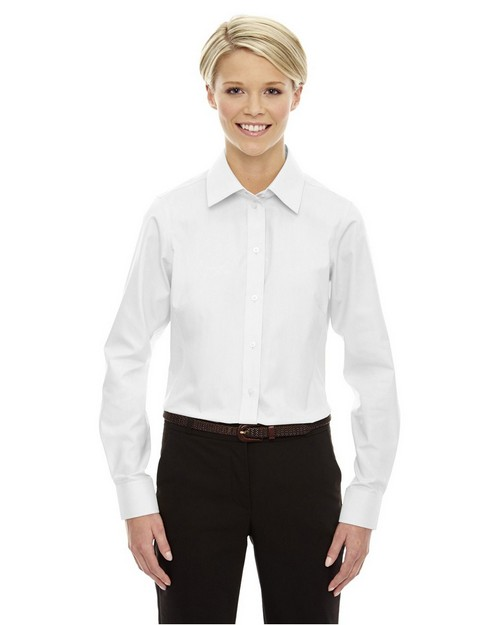 Devon & Jones D630W Ladies Crown Collection Solid Oxford Shirt