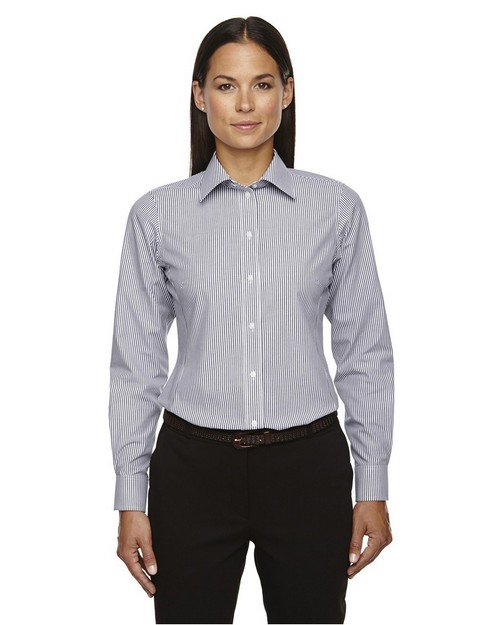 Devon & Jones D645W Ladies Crown Collection Banker Stripe Shirt