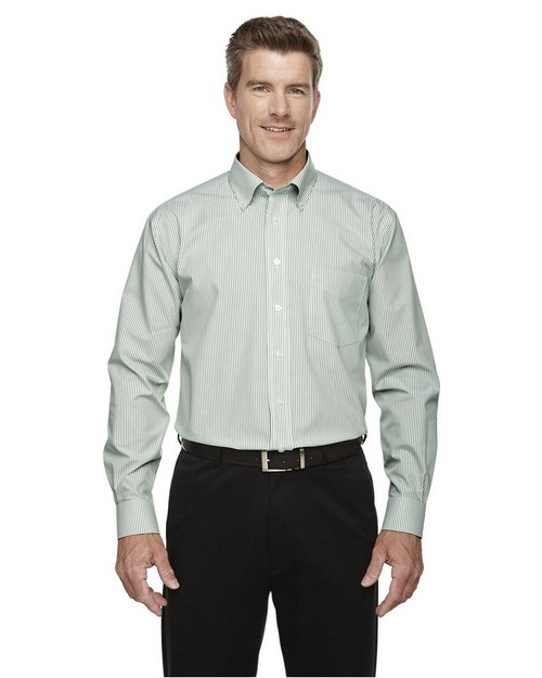 Devon & Jones D645 Mens Crown Collection Banker Stripe Shirt