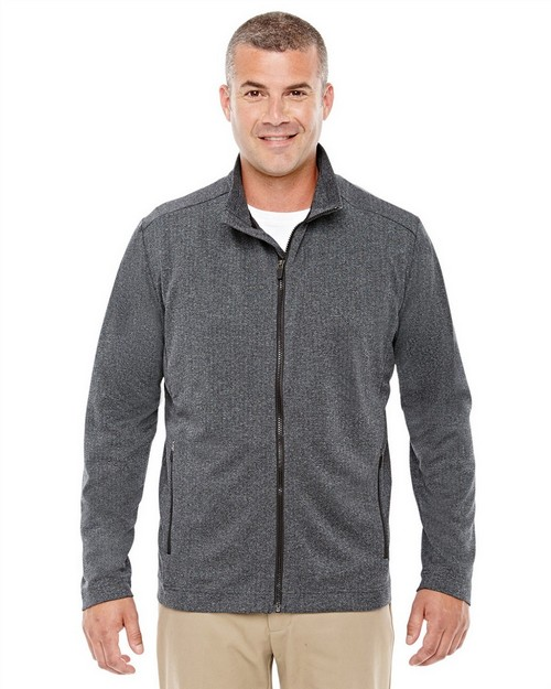 Devon & Jones D885 Mens Fairfield Herringbone Full Zip Jacket