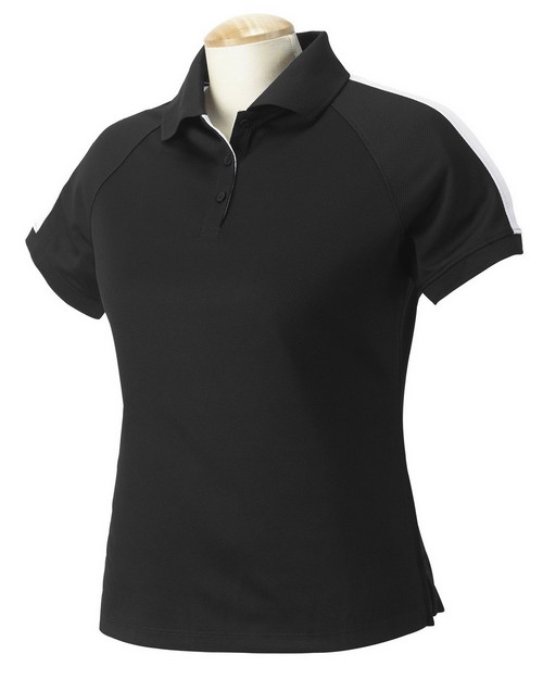 Devon & Jones DG375W Ladies Colorblock Mesh Polo
