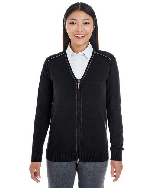 Devon & Jones DG478W Ladies Manchester Fully-Fashioned Full-Zip Sweater