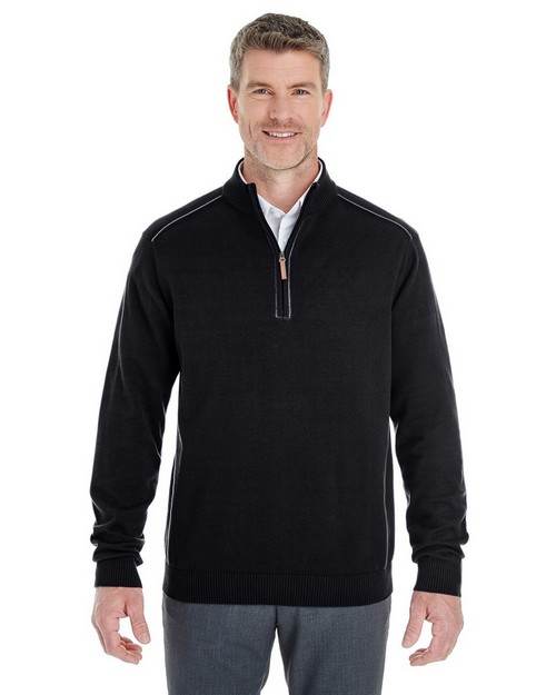 Devon & Jones DG478 Mens Manchester Fully-Fashioned Half-Zip Sweater