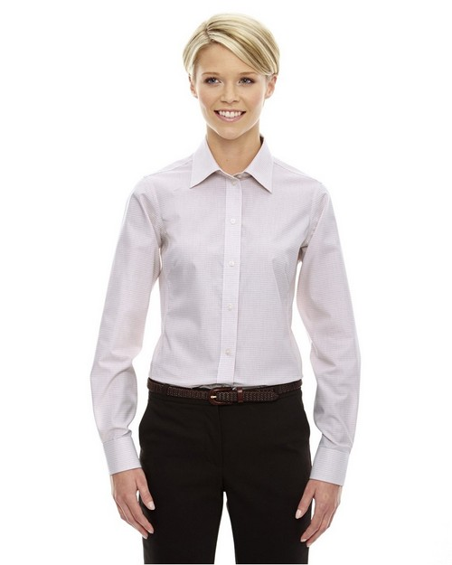Devon & Jones DG510W Ladies Crown Collection Micro Tattersall Shirt