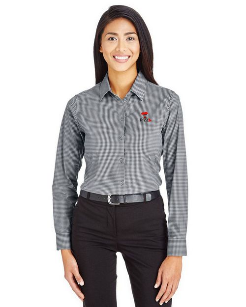 Devon & Jones DG535W Ladies CrownLux Performance Tonal Mini Check Shirt