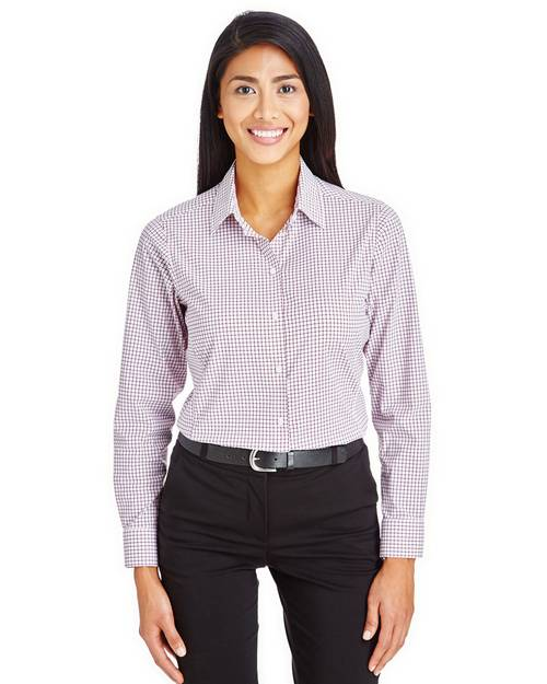 Devon & Jones DG540W Ladies CrownLux Performance Micro Windowpane Shirt