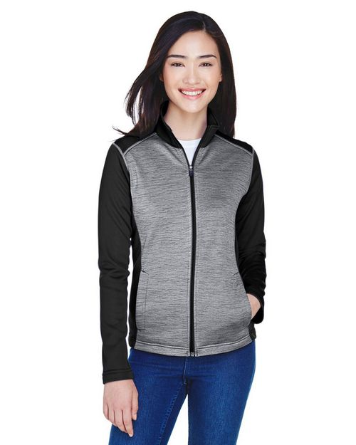 Devon & Jones DG796W Ladies Newbury Colorblock Mélange Fleece Full-zip