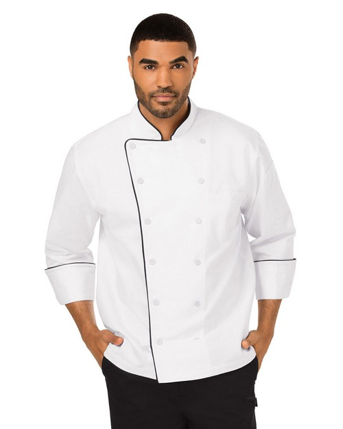 Dickies Chef DC42B Unisex Executive Piping Chef Coat
