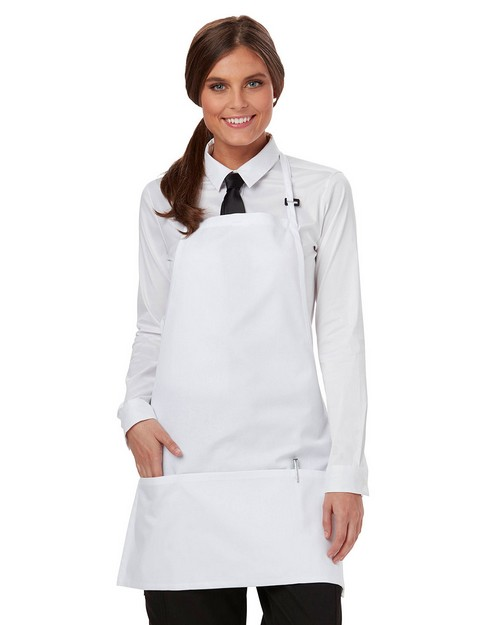 Dickies Chef DC51 Adjustable Neck Three Pocket Bib Apron